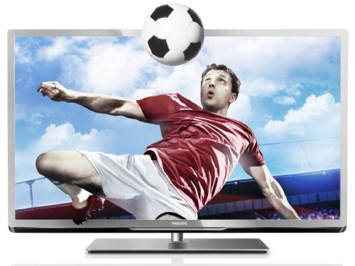 Philips 55PFL5507K/12 139 cm (55 Zoll) 3D LED-Backlight-Fernseher, EEK A++ (Full-HD, 400Hz PMR, DVB-C/-T/-S2, CI+, Smart TV Plus, WiFi, USB Recording) silber schwarz gebürstet