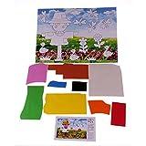 Rolimate 20Pcs Niño Educación de bricolaje 3d Eva Foam Art & Craft Pintura pegatina Jigsaw Puzzle Juguetes 26 * 18.5 cm