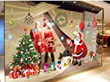 Topro X Large Merry Christmas Santa Claus Gift Show Window Wall Art Sticker...