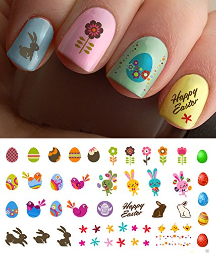 "Easter Nail Decals Assortment #1 Water Slide Nail Art Decals - Salon Quality 5.5"" X 3"" Sheet!"