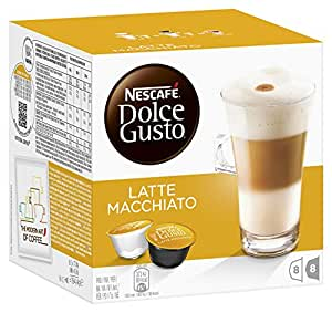 Nescafé Dolce Gusto Latte Machiato 16 Capsules (Pack of 3, Total 48 Capsules, 24 servings)
