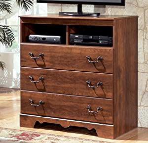 Rustic Style Brown Media Chest Bedroom Furniture Home Entertainment Centers