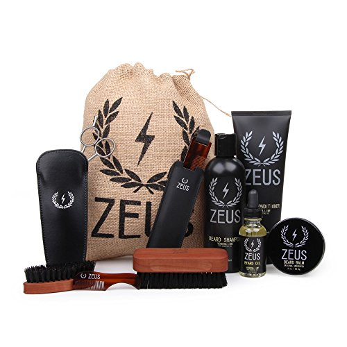 zeus ultimate beard care kit gift set for men the complete beard grooming k. Black Bedroom Furniture Sets. Home Design Ideas