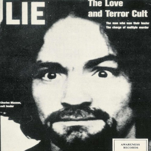 Original album cover of Lie - The Love And Terror Cult by Charles Manson