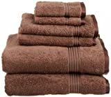 ELAINE KAREN COLLECTION - 100% Egyptian Cotton 6 Piece Towel Set, MOCHA