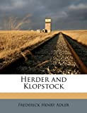 img - for Herder and Klopstock book / textbook / text book