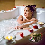 Organic-Bath-Bombs-Set-of-6-XLarge-All-Natural-Lush-Spa-Fizzies-Six-Essential-Oils-Indulge-Relax-Nourish-Your-Senses-with-Dead-Sea-and-Epsom-Salts-Shea-and-Cocoa-Butter-No-Gluten-Vegan