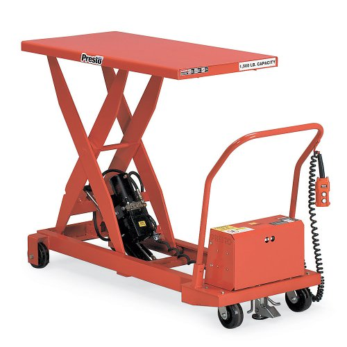 "Presto Mobile Electric Scissors Lift Tables - 1500-Lb. Capacity - 36""Wx48""D Platform"