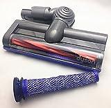 Dyson2点セット [ダイソン純正ヘッド・純正フィルターセット] カーボンファイバー搭載モーターヘッド・フィルター付き Dyson DC59 DC62 Carbon fibre motorised floor tool [並行輸入品]