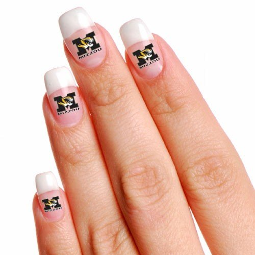 NCAA Missouri Tigers 4-Pack Temporary Nail Tattoos - 1