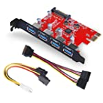 Inateck Superspeed 4 Ports PCI-E to U...