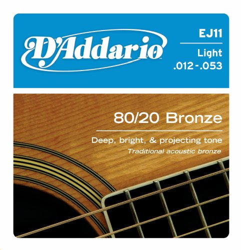 D'Addario EJ11 80/20 Bronze Acoustic Guitar Strings,