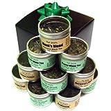 Assorted Tea Sample Gift Set. 10 Tins of Gourmet Loose Leaf Tea