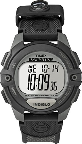 Timex Men'S T40941 Expedition Digital Chrono Alarm Timer Charcoal/Black Nylon Strap Watch front-689391