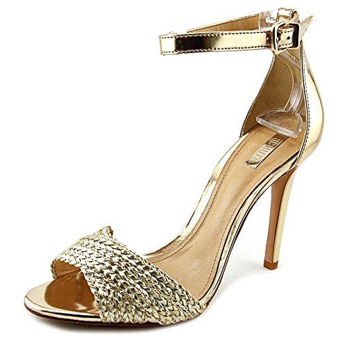 Schutz Sandalia Salto Alto Donna US 8 Oro Tacchi