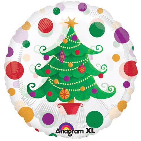 Birthday Express - Christmas Tree Magicolor Foil Balloon - , 18""