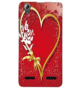 LENOVO A6000 HEART Back Cover by PRINTSWAG