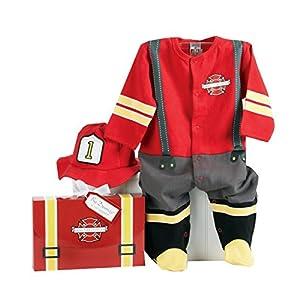 Baby Aspen, Baby Firefighter Themed Gift Box, Baby Firefighter, 0-6 Months
