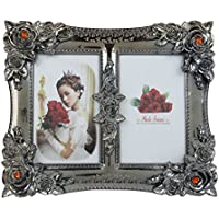 Shagun Gift Shopee Plastic Photo Frame - 22 Cm X 27 Cm X 22 Cm, Metallic, AC 164