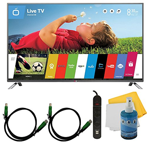 """55"""" 1080P 120Hz Led Smart Hdtv Webos Plus Hook-Up Bundle (55Lb6300). Bundle Includes Tv, 3 Outlet Surge Protector With 2 Usb Ports, 2 -6 Ft High Speed 3D Ready 1080P Hdmi Cable, Performance Tv/Lcd Screen Cleaning Kit, And Cleaning Cloth."""