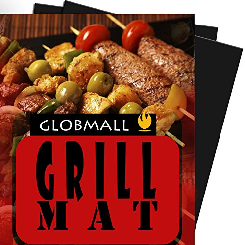 BBQ Grill Mat, Globmall Heavy Duty Non-Stick BBQ Grilling Sheet, Set Of 2, 15.75 x 13 Inches (Dallas Cowboys Baking compare prices)