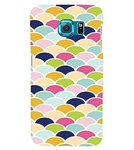 PrintVisa Pastel Colorful Pattern 3D Hard Polycarbonate Designer Back Case Cover for Samsung Galaxy S6 Edge