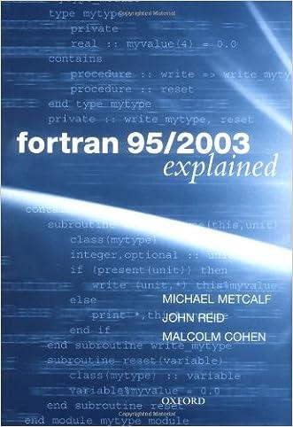 Fortran 95/2003 Explained (Numerical Mathematics and Scientific Computation)
