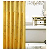 KAKA(TM) Waterproof Water-Repellent Antibacterial Anti-wrinkle Bathroom Shower Curtain- Thick warm shower curtains yellow shell Liner (31.5*70.9)