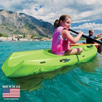Youth-Wave-Kayak-With-Paddle-Color-Lime-Green