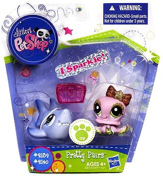 Littlest Pet Shop 2139-2140 REQUIN et POULPE scintillant sparkle