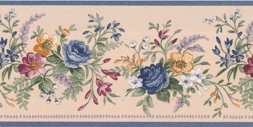 brewster-413b02953-louisa-floral-bouquet-border-blue