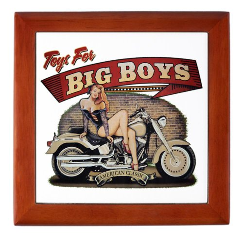 Keepsake Box Mahogany Toys for Big Boys Lady