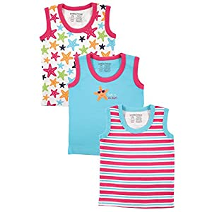 Luvable Friends Sleeveless Tops 3 Pack, Starfish, 6-9 Months