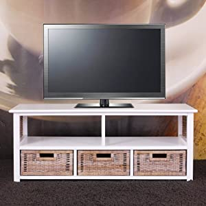 Meuble tv table basse alabama bois massif osier 3 for Meuble al larin