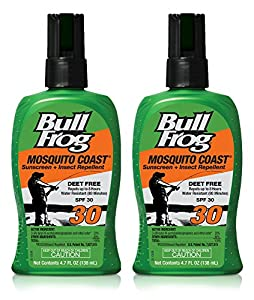 Bullfrog Mosquito Coast Sunscreen and Insect Repellent SPF 30 Pump Spray (Pack of 2)