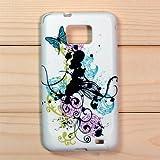 【全10色】Samsung Galaxy S2 / SC-02C / i9100 専用ケース プラスチックケース 花柄 Plastic Case for Galaxy S2 SC-02C (1380-5)