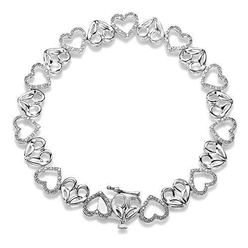 Jessica Simpson I Am Irresistible Diamond Heart Bracelet 1/15ctw