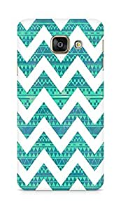 Amez designer printed 3d premium high quality back case cover for Samsung Galaxy A3 (2016 EDITION) (zig zag pattern)