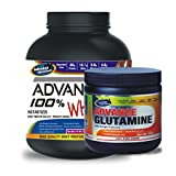 Advance Glutamine 300gm Unflavoured& ADVANCE 100% WHEY 25gm Protein Per 33gm 2kg Chocolate (Combo Offer)