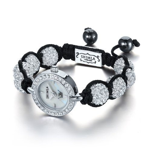 Ltd Ladies Watch Sh 043 - Stone Set Head On A Shimla Crystal Bead Bracelet