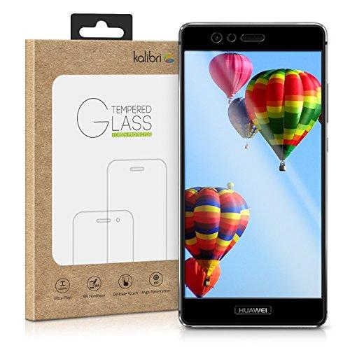 kalibri-Echtglas-Displayschutz-fr-Huawei-P9-3D-Curved-Full-Cover-Screen-Protector-mit-Rahmen-in-Schwarz