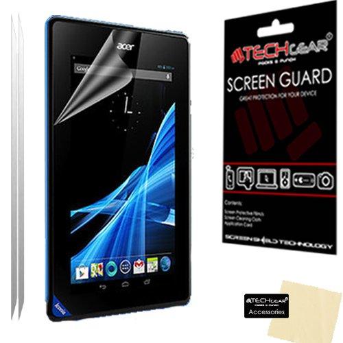 TECHGEAR LCD-Displayschutzfolie für Acer Iconia B1 Modell-Nr. B1-A71 17,78cm (7 Zoll) Tablet inklusive Reinigungstuch und Karte zum Auftragen der Displayschutzfolie