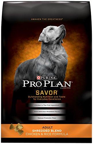 Purina Pro Plan Dry Adult Dog Food, Shredded Blend Chicken and Rice Formula, 35-Pound Bag