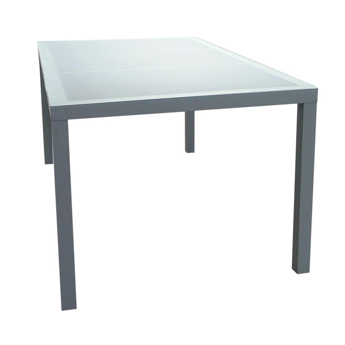 Gartenfreude Aluminium Tisch mit Glasplatte 160 x 90 x 72 cm, 1 Stück, 2700-1013 kaufen