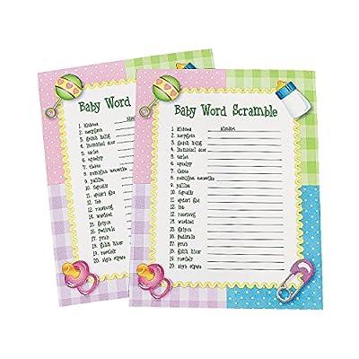 Baby Word Scramble Baby Shower Game ~ 24 sheets OTC
