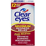 Clear Eyes Maximum Redness Relief, 1-Ounce Packages (Pack of 3)