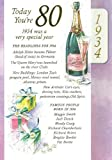 Lilac 80th Birthday Card - 1934 Was A Very Special Year - 2014 Year Card
