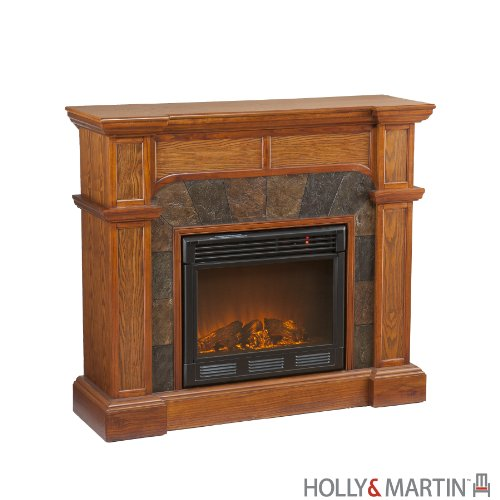 Holly & Martin Cypress Electric Fireplace, Oak