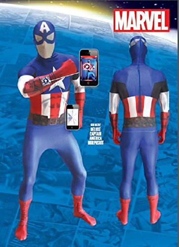 Fancy Dress - Captain America Morphsuits - ADULT LARGE