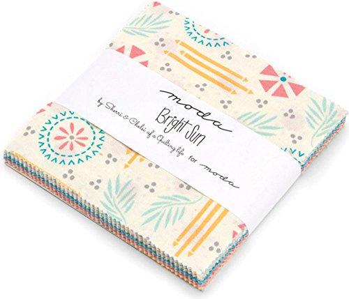 "Bright Sun Charm Pack By Sherri & Chelsi; 42 - 5"" Precut Fabric Quilt Squares"
